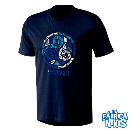 Camiseta Trisquel azul Santiago