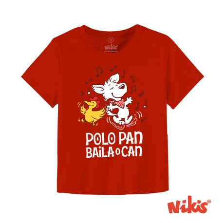 Camiseta bebé Polo pan baila o can