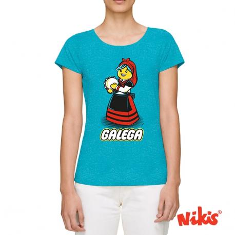 Camiseta Galega Pandereteira moza