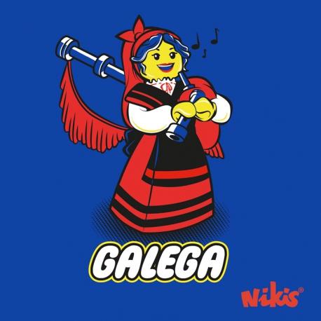CAMISETA GALEGA GAITEIRA MOZA