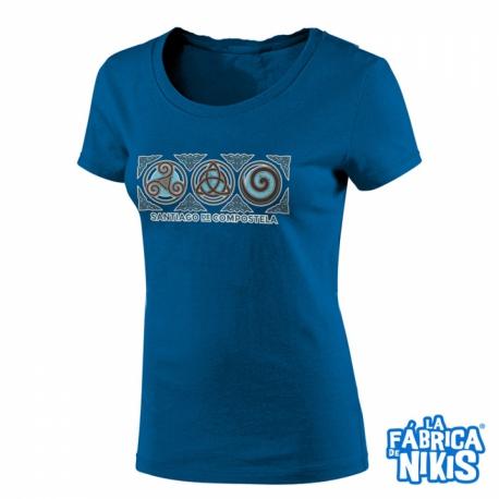 Camiseta Tres Simbolos Celtas chica