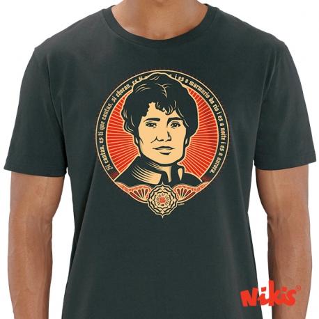 Camiseta Rosalía Negra Sombra