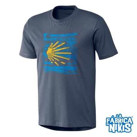 Camiseta Concha madera denim
