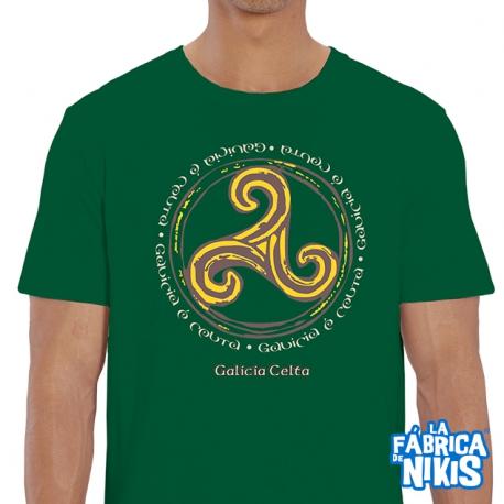 Camiseta Galicia é Celta verde