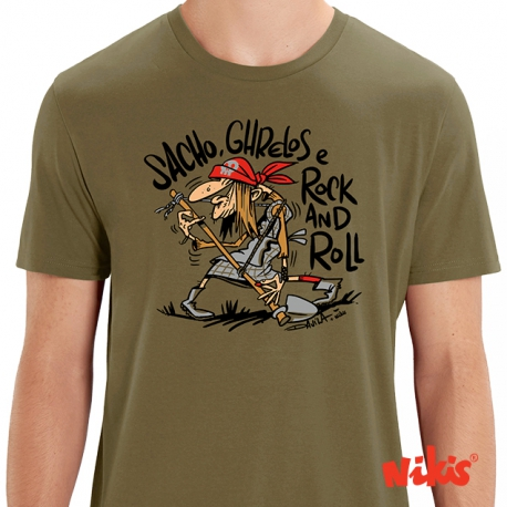 Camiseta Sacho, Grelos e Rock and Roll