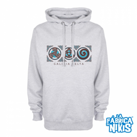 Sudadera Tres Simbolos Celtas gris