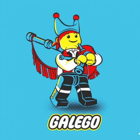 CAMISETA GALEGO GAITEIRO BEBE