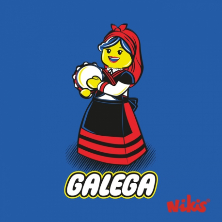 CAMISETA GALEGA PANDERETEIRA BEBE