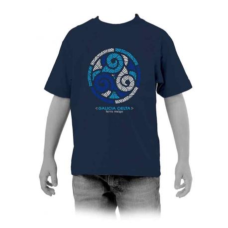 Camiseta Trisquel Azul Galicia niño