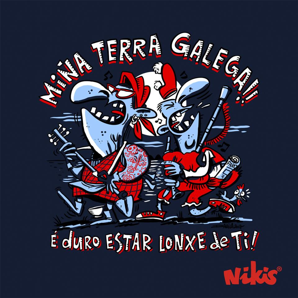 CAMISETA MIÑA TERRA GALEGA