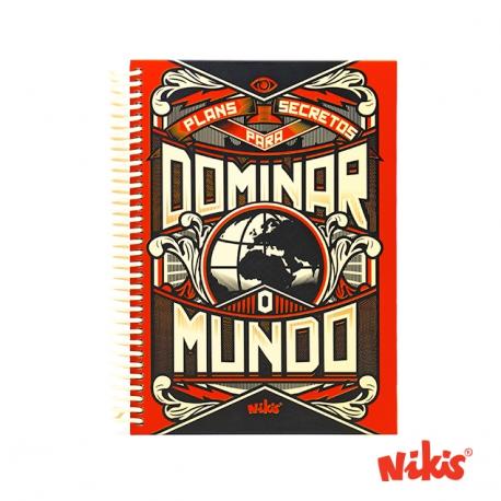 Caderno espiral Dominar o mundo cuadriculada