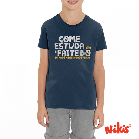 Camiseta Come,estudia e Faite bo