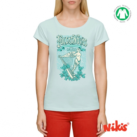 Camiseta Follas Novas moza