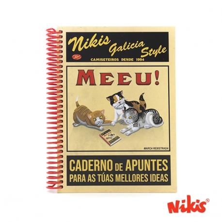 Caderno espiral Meeu!!