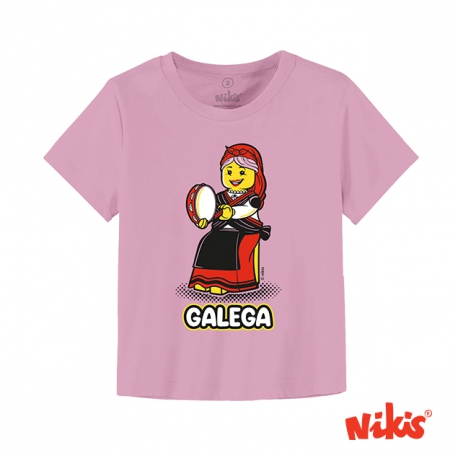 Camiseta Galeguiña Pandereta bebé