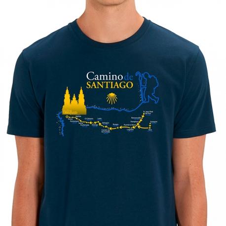 Camiseta Mapa Camino de Santiago
