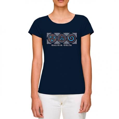 Camiseta 3 Simbolos Celtas Denim