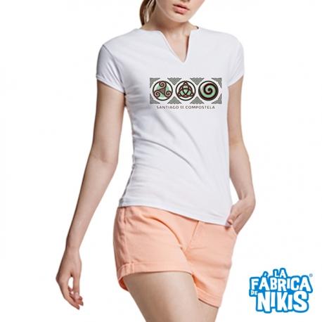 3 Symbol Santiago White T-shirt
