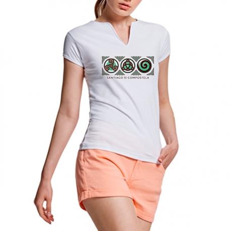 Camiseta 3 Símbolos Santiago Blanco