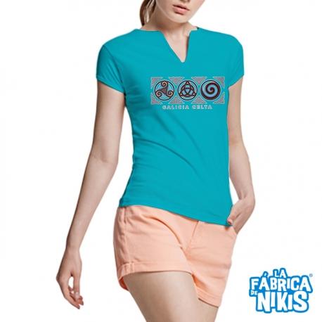 3 Symbols Galicia Turquoise T-shirt