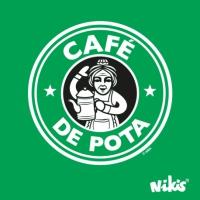 CAMISETA CAFÉ DE POTA