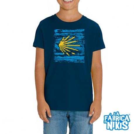 Camiseta Concha Madera niño