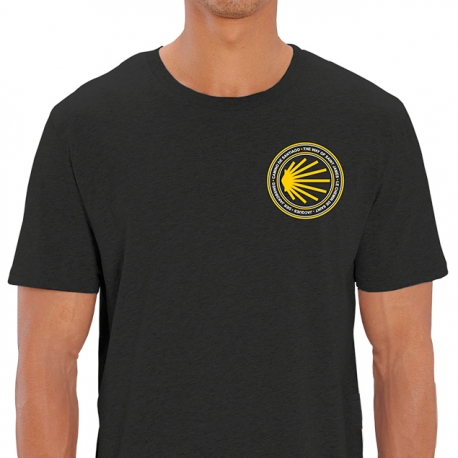 Camiseta Concha Camino de Santiago Sello Antracita