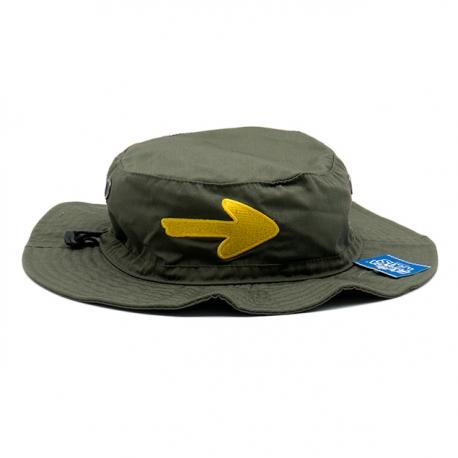 Sombrero Flecha Camino de Santiago verde