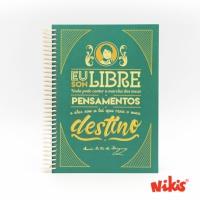 Caderno espiral Libre Rosalía
