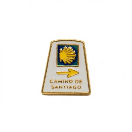 Pin Mojón Camino de Santiago