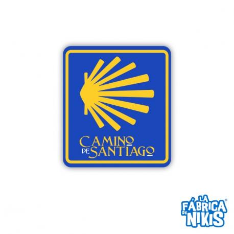 Imán goma Concha Camino de Santiago Escudo