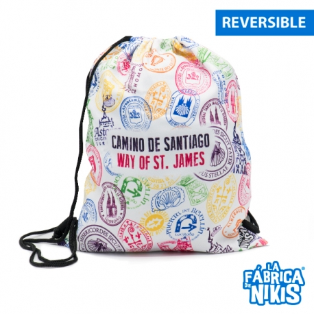 Stamps Of The Way Reversible Backpack
