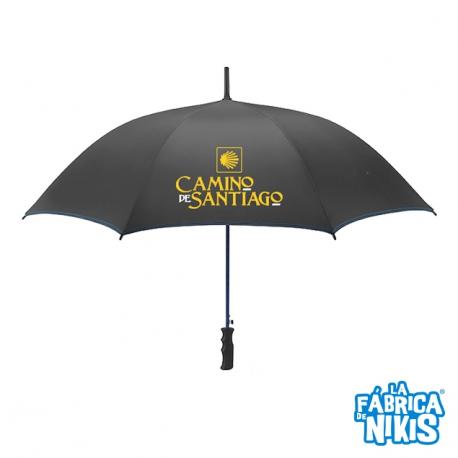 Shell Black Folding Umbrella