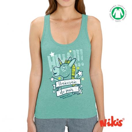 Camiseta Unicornio asas moza