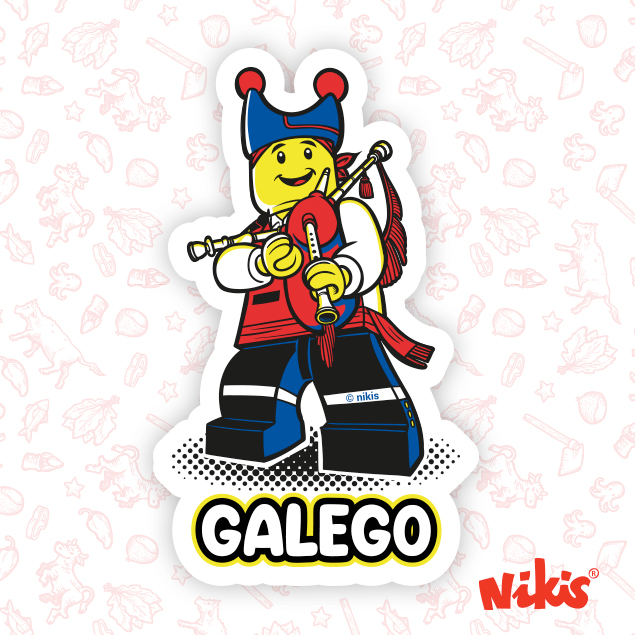 PEGATINA GALEGO GAITEIRO