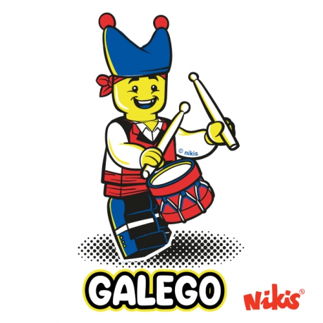 PEGATINA GALEGO TAMBORILEIRO