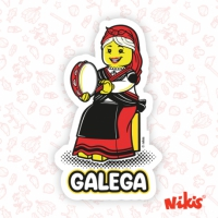 Pegatina Galega Pandereteira
