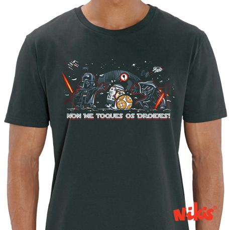 Camiseta Non me toques Os Droides