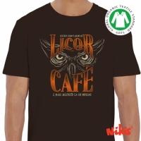 Camiseta Moucho licor café