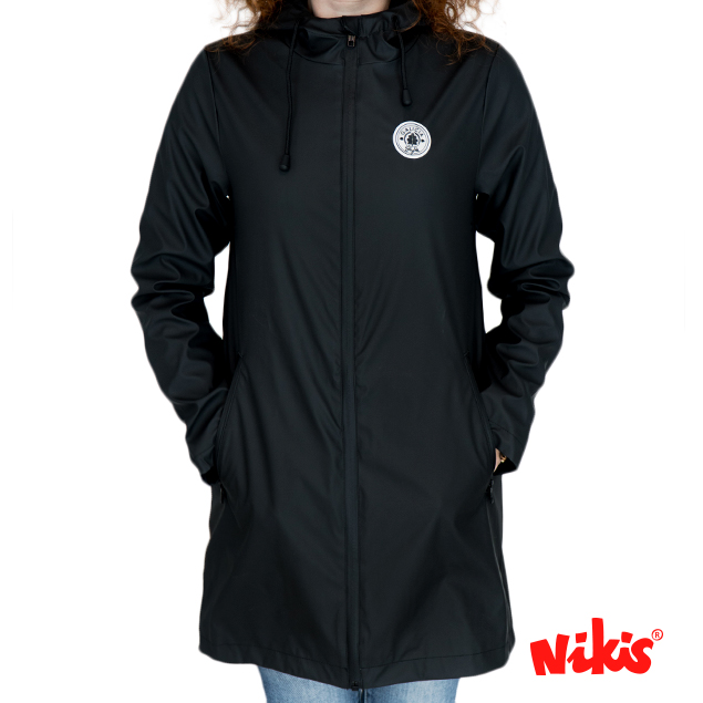 CHAQUETA IMPERMEABLE CHICA STYLE NEGRO