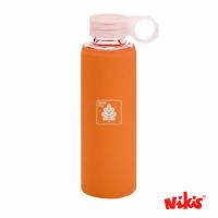 Botella Funda Silicona Naranja