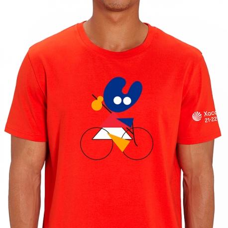 Camiseta Bici Pelegrín Rojo
