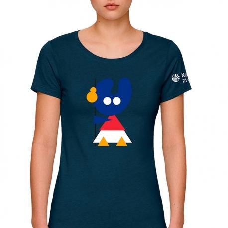Camiseta Pelegrín Marino Mujer