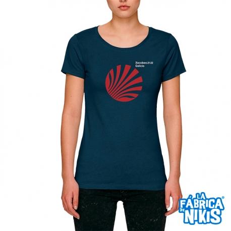 Camiseta Xacobeo Galicia Marino Mujer