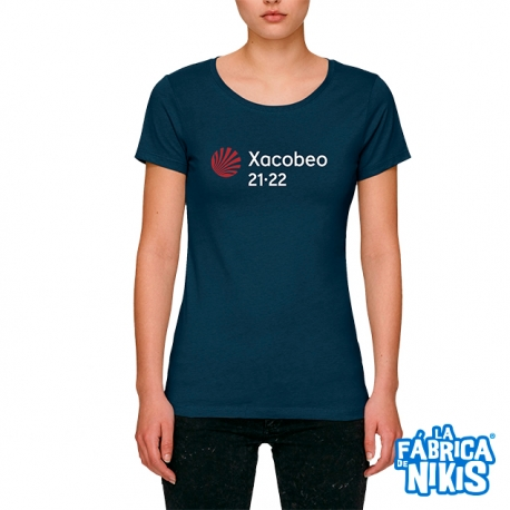 Camiseta Xacobeo 21-22 Marino Mujer
